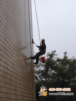 岳化大酒店外墙清洗及防水工程