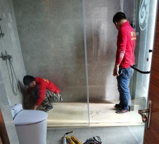 江山国际大酒店卫生间渗漏水免砸砖防水维修